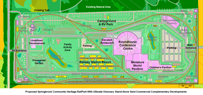 Conceptual ultimate rail park vision Springbrook option