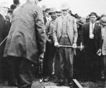 Sir Wilfrid Laurier drives the ACR 1st spike 1910