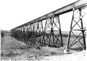 Mintlaw ACR trestle shortly after completion