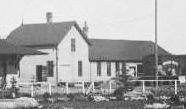 rear/street view of CPR Red Deer combination station 1910