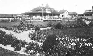 new and old CP railway stations and park