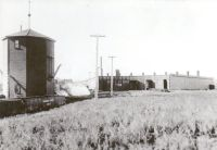 CPR roundhouse and water tank Red Deer 1912