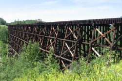 CNR wood trestle at Briggs ravine