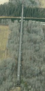 aerial view of Mintlaw trestle